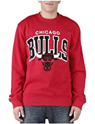 Mitchell And Ness - Sweat Shirt Homme Chicago Bulls Team Arch Crew - Red