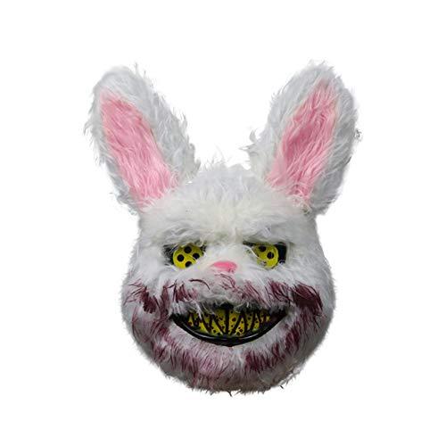 axaya Evil Killer Rabbit Horror Maske, Scary Masks - Halloween Gruselige Bunny Maske - Killer Bunny Maske - Spooky Maske - Halloween Kostüm (Gruselig Bunny Kostüm)