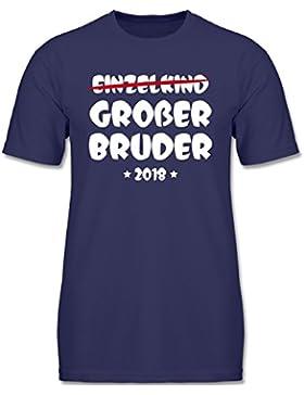 Shirtracer Geschwisterliebe Kind - Einzelkind Großer Bruder 2018 - Jungen T-Shirt
