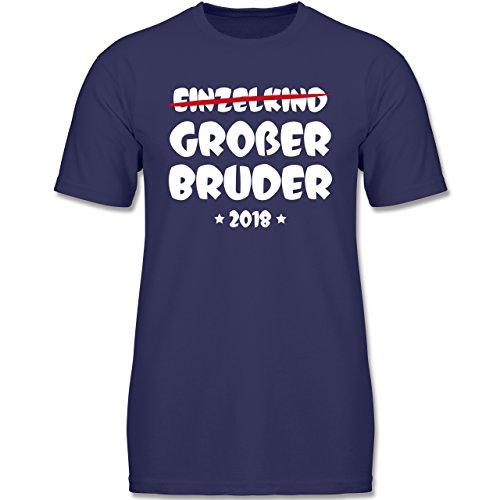 Shirtracer Geschwisterliebe Kind - Einzelkind Großer Bruder 2018-92 (1-2 Jahre) - Navy Blau - F140K - Jungen T-Shirt (Wrap Kurzarm-t-shirt)