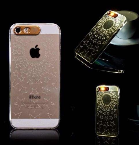 Lumière Clignotante Motif Transparent Coque rigide pour Apple iPhone 5/5S & 6/6S, Etoiles, APPLE IPHONE 5SE