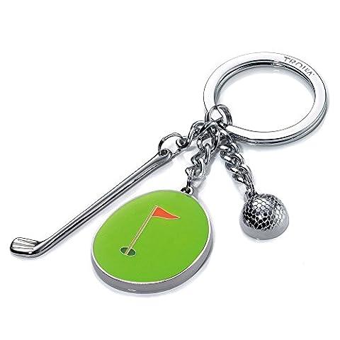 Troika - HOLE IN ONE Golf Schlüsselanhänger mit 3 typischen Golfanhängern