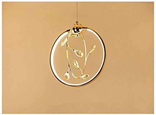 LQ-Chandelier Moderner Minimalistischer LED-Leuchter, Galvanisierungs-Handwerks-Persönlichkeits-Restaurant-Leuchter-Kunst-Kristall-Kleidungs-Shop-Bar-Runde Kleine Hängende Lampen - Kleine Decke Mount Licht