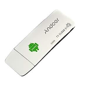 Andoer E888 Mini PC TV Dongle Stick Android 4.4 Quad Core RK3188T 2G / 8GB XBMC Bluetooth DLNA wifi Built-in wifi e microfono +Cavo HDMI+Cavo USB+Adattatore di potere