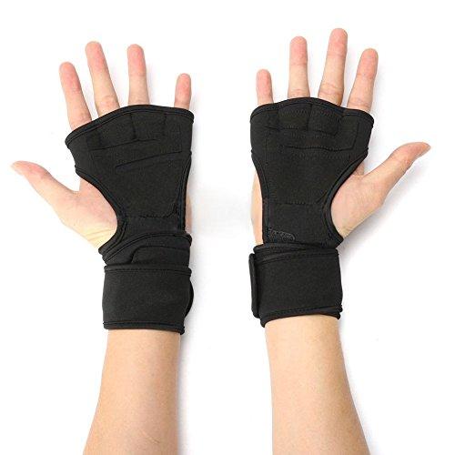 rungao Fitness Gym Gewichtheben Handschuhe Neopren Handgelenk Unterstützung Packungen Träger Gel-Handschuhe L schwarz