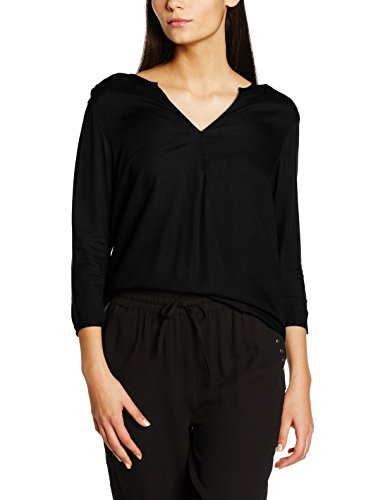Vero Moda Vmforest Visc 3/4 Tunic A, Blouse Femme Noir (Black Detail:SOLID)
