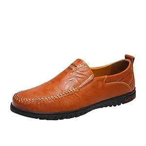 Dnliuw Herren Vollleder Schuhe, Mode Freizeitschuhe Business Schuhe Berufsschuhe
