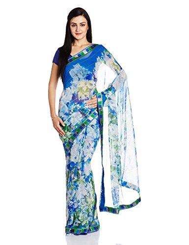 Jashn Saree with Blouse Piece (2291FAB_Blue_Free Size)