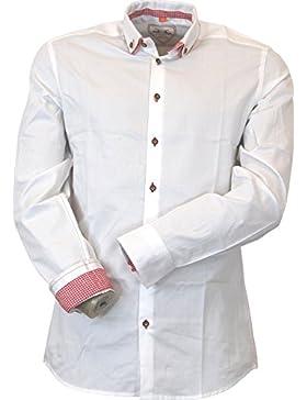 Maddox Slimline Trachten Doppelkragen Button-Down Hemd Obing