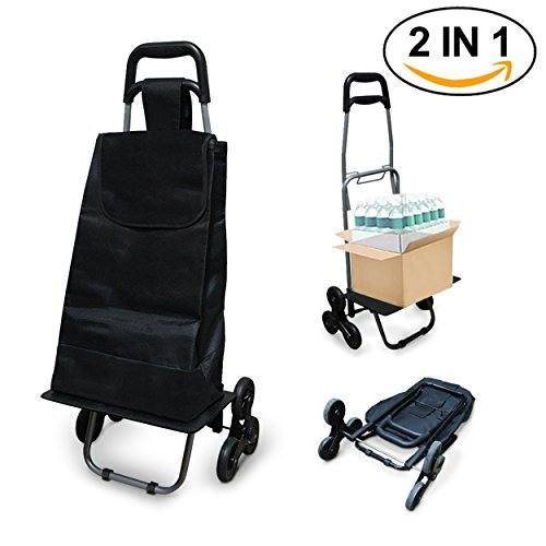 Chariot de course pliable 6 roues chariot march 3 roues - Caddie 6 roues ...