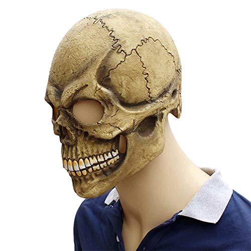 Jke pan Ghost Festival Halloween Latex Maske Zombie Horror Grimassen Maske Scary Skull Mask Headgear