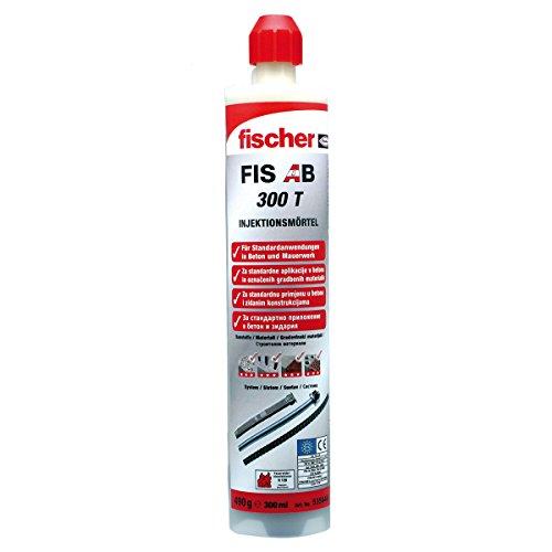 FISCHER FIS AB 300 T Injektionsmörtel 300 ml mit Zulassung für Beton und Mauer, 1 Stück,535646