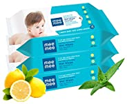 Mee Mee Baby Gentle Wet Wipes ((72 Pcs,Pack of 03), Lemon Gentle Multipurpose)