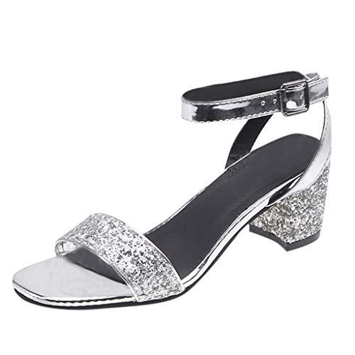 Vicgrey ❤ sandali estivi donna con tacco a spillo gioiello scarpe ragazza tacco alto sexy sandali estive donne eleganti da cerimonia per sposi sandalo ragazze tacco medio sandali casual da donne