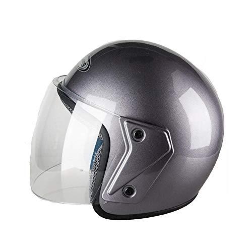 WJPY Moto Casco Moto elettrica Uomo e Donna Adulto Quattro Stagioni Mezzo Casco Batteria Auto Casco Caldo Antivento Anti-Nebbia@7