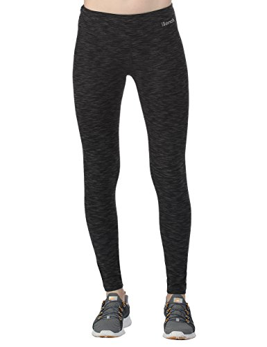Bench Damen Leggings Baddah, Jet Black Marl, L, BLNF0037