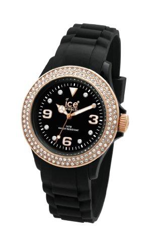 ICE-Watch - Montre femme - Quartz Analogique - Ice-Star - Black - Small - Cadran Noir - Bracelet Silicone Noir - ST.BK.S.S.09