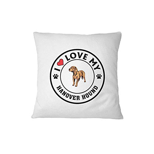 HANOVER HOUND DOG I love my Sofa Bed Home Decor Pillow Cover 18 X 18 Inches / 45 By 45 Cm Pillow & Cover Set