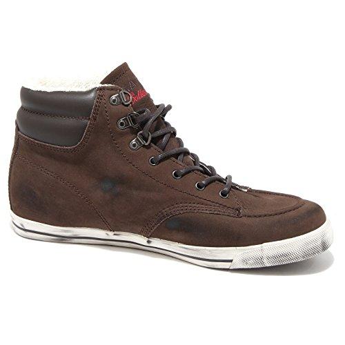 56520 sneaker D.A.T.E. CLIFF LEATHER scarpa uomo shoes men Marrone