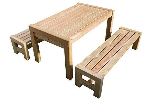 Ensemble de jardin pour enfants Sarina Table et bancs en bois de qualité supérieure de Gartenpirat®