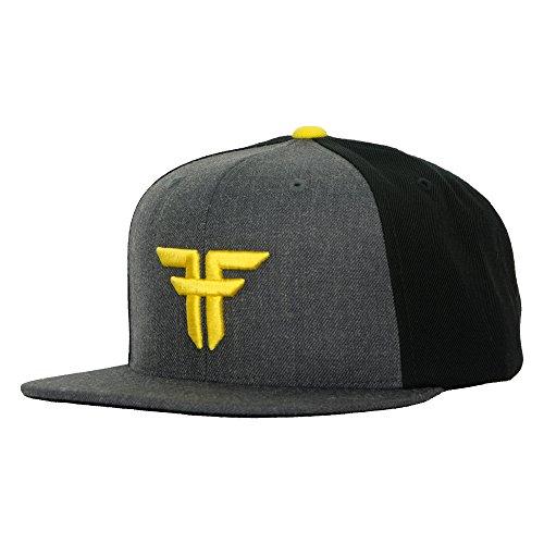 Fallen Cap Trademark Starter Baseball Caps heather charcoal/dark yellow