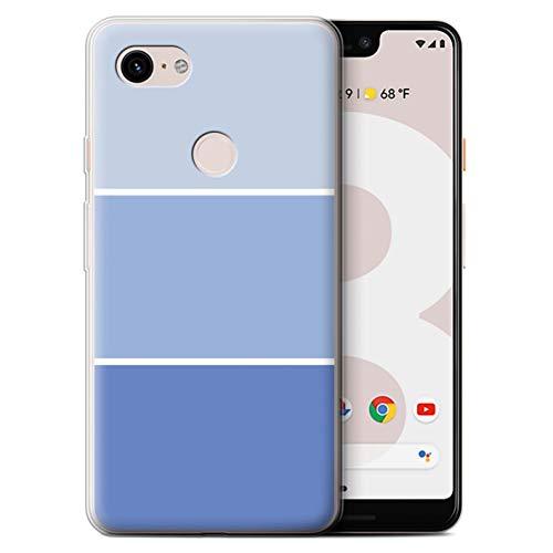 Stuff4® Gel TPU Hülle/Case für Google Pixel 3 XL/Blau Muster/Pastell Farbton Kollektion