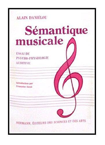 SEMANTIQUE MUSICALE par Jean Daniélou