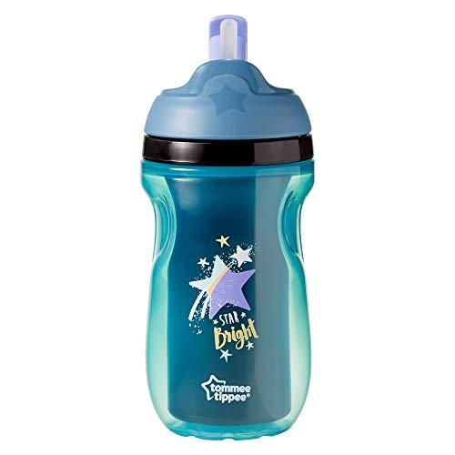 Tommee Tippee 44702381 - Taza con pajita aislada, para 12 meses, color azul
