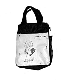 Magnusdeal®Cute Cartoon Women Bag Flower Animals Printing Oxford Storage Bags Lunch Bag For Girls Food Bag School...