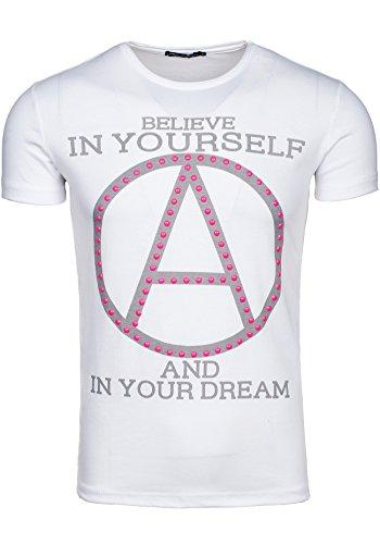 BOLF T-shirt Kurzarm Oversize STEGOL 731 Weiß XL [3C3]  