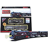 SRK Train Track Set Black Train Toy Express Train Set with Fun, Interactive, Ready to Play Holiday Model Battery…