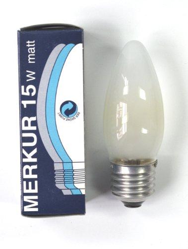 ampoule à incandescence 15W flamme dépolie E27