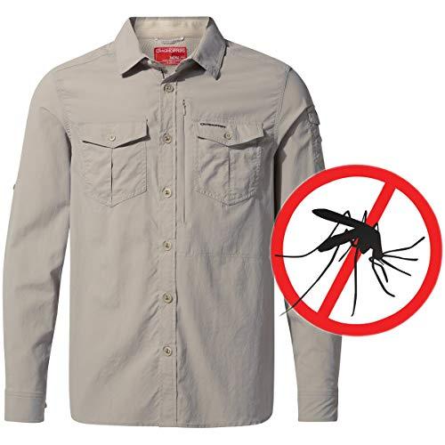 NosiLife Moskito-Insketen Mückenschutz Hemd Herren, Sand, 3XL