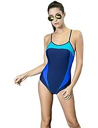 28d4c5a48fc1 Quibine Damen Sport Figuroptimizer Einteiler Racerback Badeanzug  Einstellbarer Strap Badeanzug One Piece Badeanzug Bademode Bodysuit Bathing
