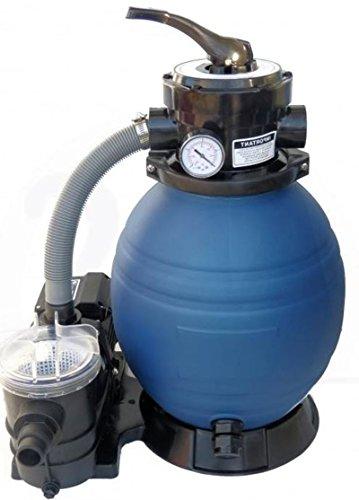 NEU HST Profi Leis Sandfilteranlage 8 m ³ Sandfilter Pumpe 250 W Poolfilter Filter 25kg
