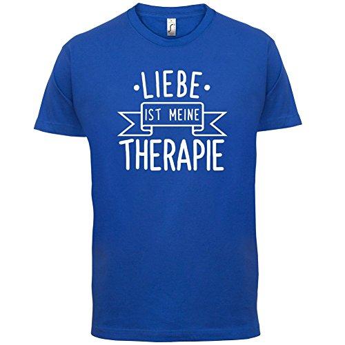 Liebe ist meine Therapie - Herren T-Shirt - 13 Farben Royalblau