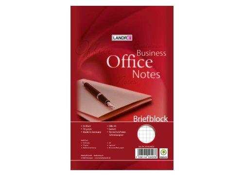 LANDRE 100050269 Briefblock Office 10er Pack A5 50 Blatt kariert 70 g/m² Schreibblock Briefblöcke Briefpapier