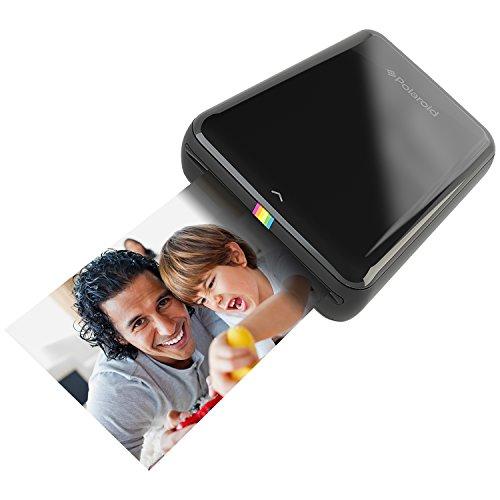 Polaroid Zip Handydrucker mit Zink Zero tintenfreier Drucktechnologie – Kompatibel mit iOS- & Androidgeräten - Schwarz (Instant Mobiler Foto-drucker)