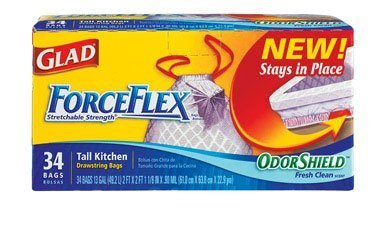 glad-forceflex-odor-shield-13-gal-tall-kitchen-drawstring-bags-34-ct-pack-of-6-by-glad