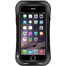 iPhone Case Cover LOVE MEI para el iPhone 7 Plus TriBump de la cintura Profesional y poderoso A prueba de polvo A prueba de golpes Anti-slip Metal Protective Case ( Color : Black )