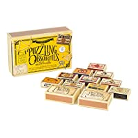 Professor Puzzle, Puzzling Obscurities Box of Brainteasers - 10 Unique Matchbox Puzzles & 50 Unique Brain Teasing Challenges