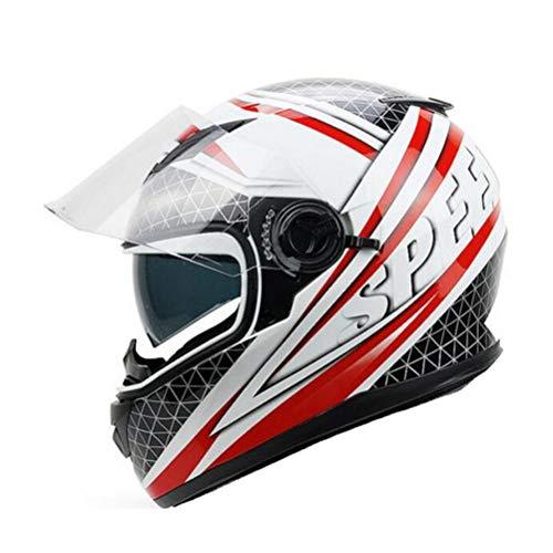 Doppel Objektiv Motorradhelm Von Abs Mit Pc Objektiv Visier Männer Outdoor Modular Racing Helm Anti Crash Downhill Frauen Full Face Motocross Helme