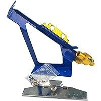 AME Desierto Hunter Tiro al Arco Flecha Fletching Jig Herramienta Ajustable (Azul)