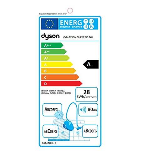 Dyson Cinetic Big Ball Animalpro 2 Aspiradora de Trineo sin Mantenimiento, 700 W, 0.8 litros, 80 Decibeles, Plata
