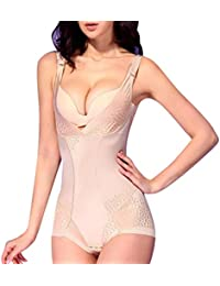 ZKOO Faja Modeladora Adelgazante Body Abdomen Reductora Bodysuit sin Costuras Underbust Lencería Shapewear para Mujer