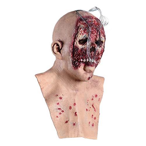Kostüm Gesicht Schädel Malen - WOBANG Halloween Maske Kopfbedeckung,Halloween Ball verkleiden Sich Dress up Terror verrotten Gesicht Maske Halloween Dekoration Deko