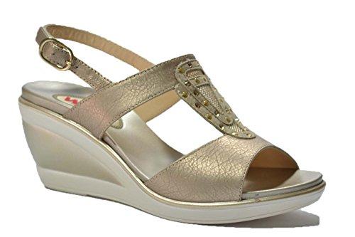 Melluso Sandali zeppa avana scarpe donna R8597 37