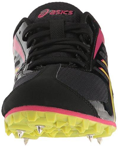 Asics - Frauen Hyper Ld 5 Leichtathletik-Schuhe Black/Lime/Pink