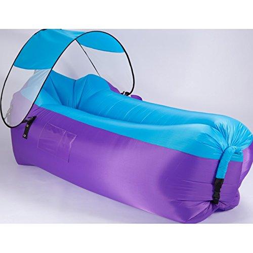 Aufblasbare Liegestuhl, Outdoor tragbare Luft Sofa Sofa Schlafsack Strand Schatten Camping Wandern Strand Grill Angeln Camping Picknick