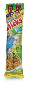 Vitakraft Budgie Two Moulting Sticks (Pack of 7, Total 14 Sticks) by Vitakraft
